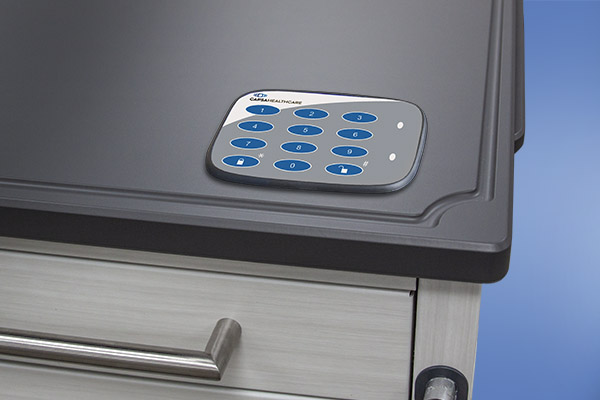 medication cart with keypad entry