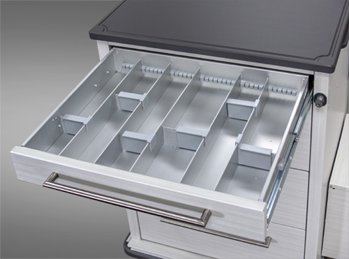 Flexible Med Cart Drawers