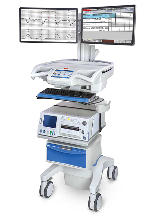 Dual monitor CareLink Fetal Monitoring Cart
