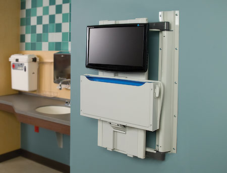 Wall Arm Workstations for Hospitals
