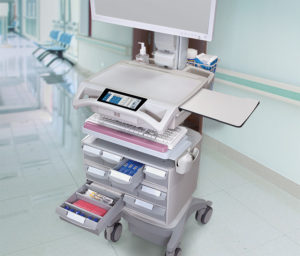 Nurse workstations with enhanced Maneuverability